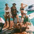 Renell Medrano, Justine Skye, Hailey Baldwin, Bella Hadid et Kendall Jenner. Photo publiée le 18 mars 2018.