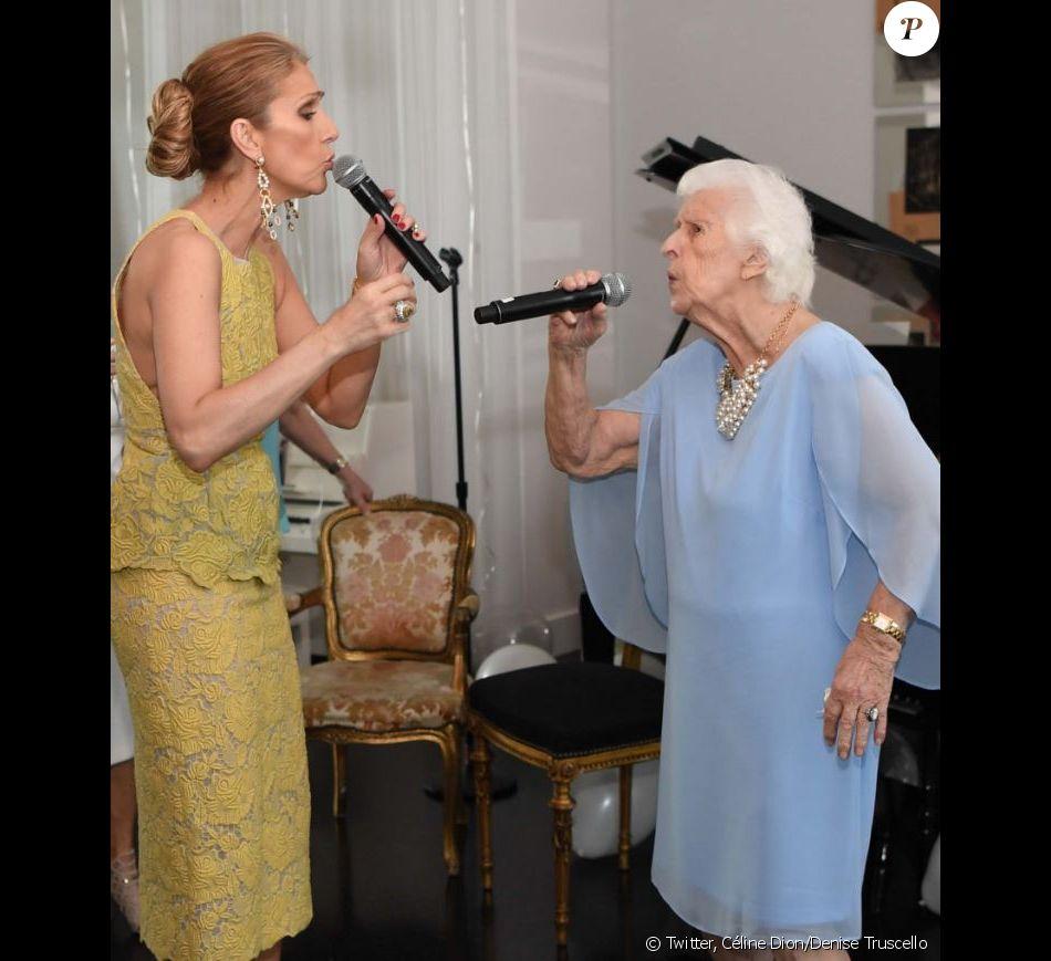 Céline Dion a posté cette photo pour les 91 ans de sa mère Thérèse. Le 20 mars 2018.