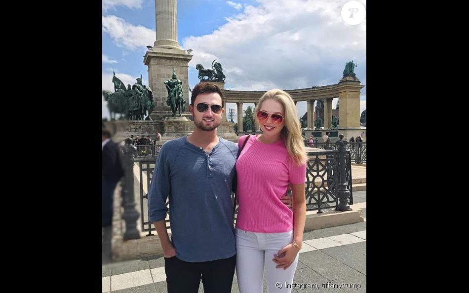 Tiffany Trump et son ex-chéri Ross Mechanic, en Italie, en juillet 2017.