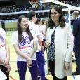 La duchesse Catherine de Cambridge, enceinte, et le prince William ont pris part le 22 mars 2018 à un événement organisé par l'association SportsAid dans l'enceinte sportive La Copper Box au Parc olympique de Londres. Il s'agissait de la dernière journée d'engagements de Kate avant son congé maternité.