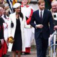 Le prince Harry et sa fiancée Meghan Markle lors du Commonwealth Day en l'abbaye de Westminster à Londres le 12 mars 2018