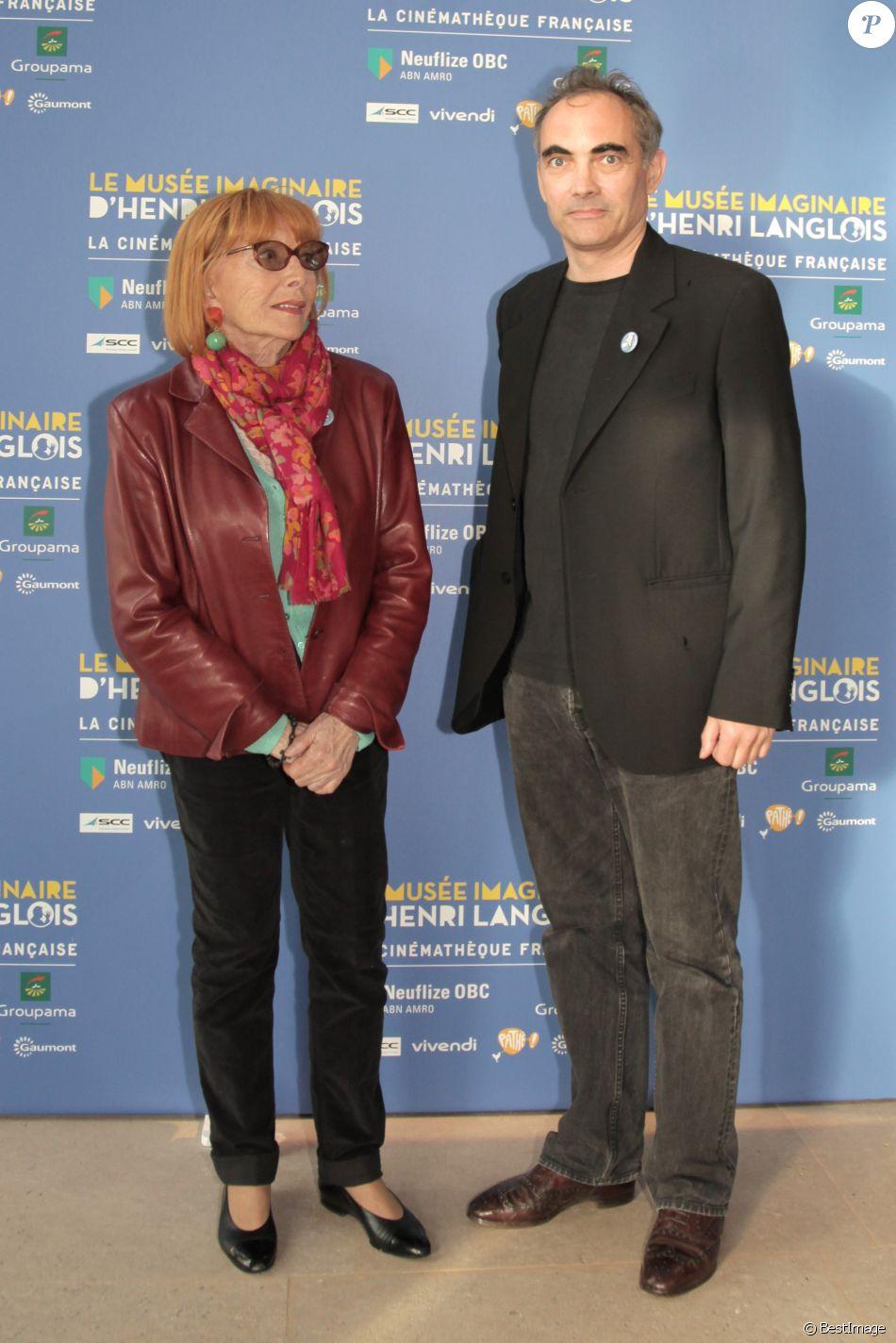 """Stéphane Audran et Thomas Chabrol - Vernissage de l'exposition """"Le musée imaginaire d'Henri Langlois"""" à la Cinémathèque de Paris. Le 7 avril 2014"""