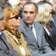 Thomas Chabrol et sa mère Stéphane Audran à l'homme public à Claude Chabrol, Paris, le 17 septembre 2010.