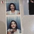 Kim Kardashian se replonge dans les photos de son adolescence. Story Instagram du 27 mars 2018.