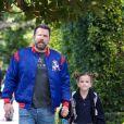 Ben Affleck est allé chercher leur fille Seraphina à l'école à Brentwood, le 19 mars 2018