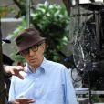 Woody Allen sur le tournage de son nouveau film à New York. Le 20 septembre 2017 © CPA / Bestimage