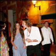 Andrea Casiraghi avec sa fiancée Tatiana Santo Domingo en février 2008 en Colombie au mariage de l'oncle de Tatiana, le rère de son père.