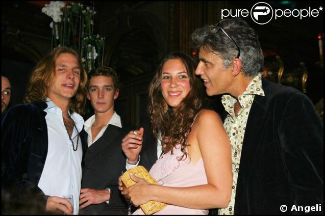 Andrea Casiraghi avec sa fiancée Tatiana Santo Domingo et le papa Julio Mario Santo Domingo
