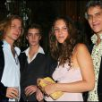 Andrea Casiraghi avec sa fiancée Tatiana Santo Domingo, son papa Julio Mario et Pierre casiraghi
