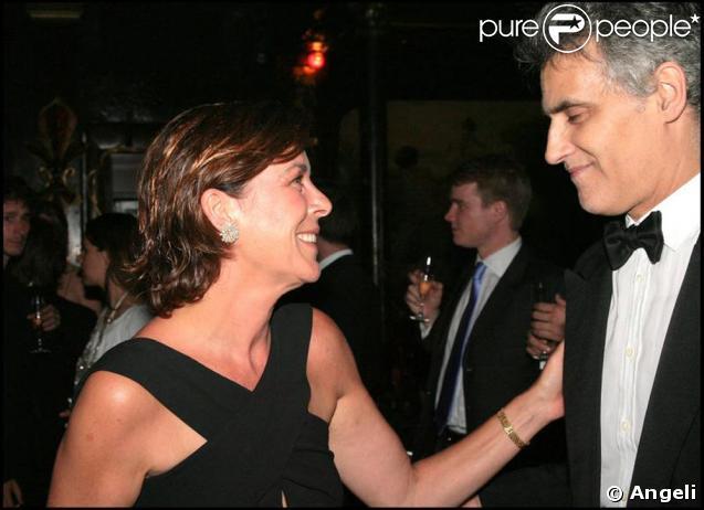 Julio Mario Santo Domingo et la princesse Caroline de Monaco avec qui il était très ami