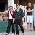 Robert Downey Jr avec sa femme dans les rues de Los Angeles