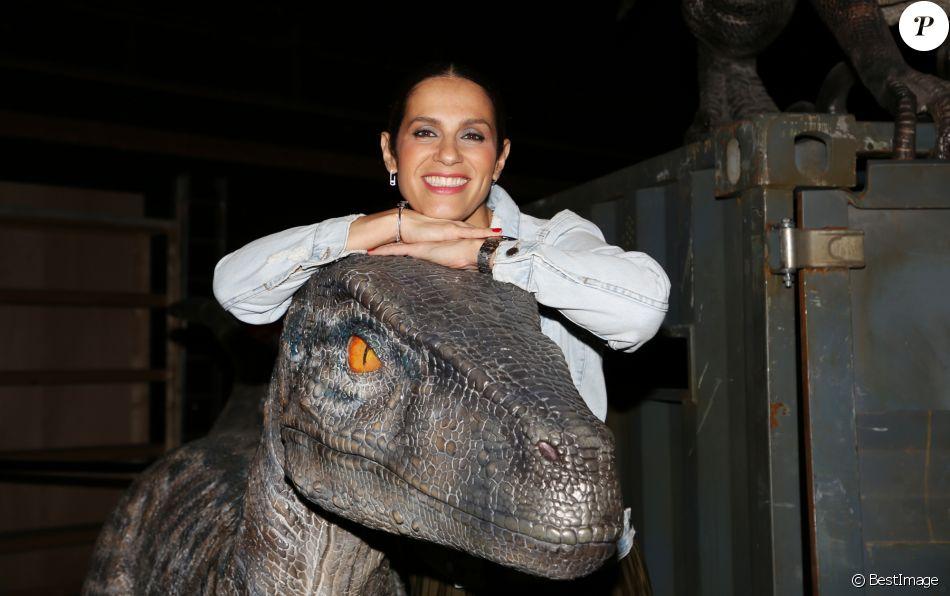 """Elisa Tovati à l'exposition """"Jurassic World"""" à la Cité du Cinéma. Saint-Denis, le 12 avril 2018. © Denis Guignebourg/Bestimage"""