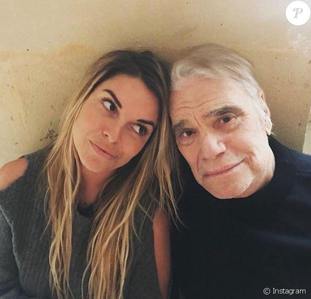 Sophie Tapie épaule son père Bernard Tapie dans son combat contre le cancer, photo Instagram le 13 février 2018.