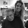 Sophie Tapie épaule son père Bernard Tapie dans son combat contre le cancer, photo Instagram le 1er janvier 2018.