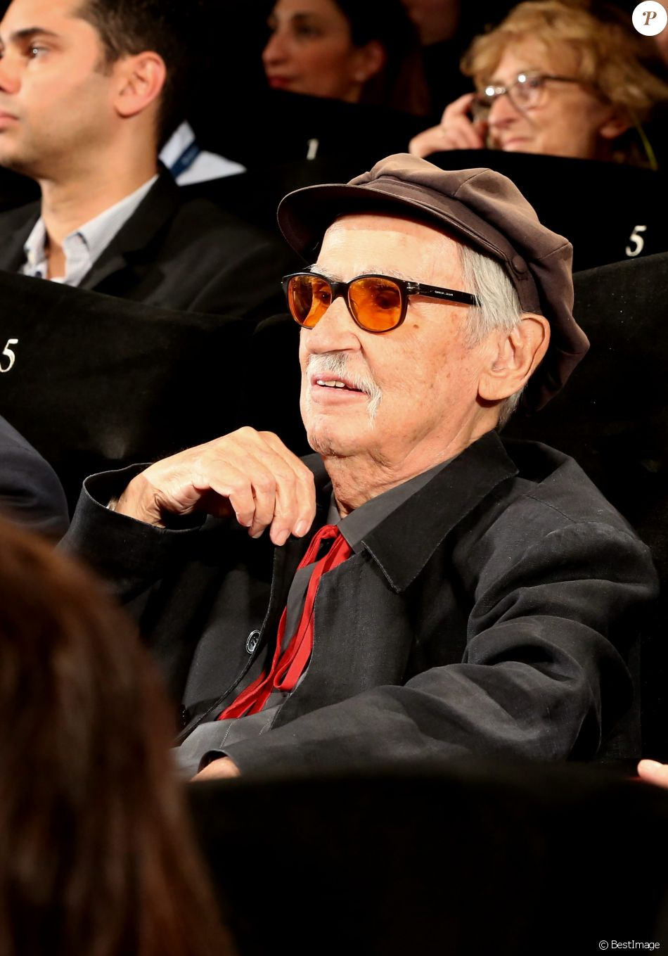 """Vittorio Taviani - Projection du film """"Lumière 120 ans du cinématographe Lumière"""" lors du 68e Festival International du Film de Cannes, à Cannes le 17 mai 2015."""