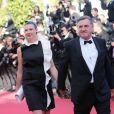 """Daniel Auteuil et sa femme Aude Ambroggi - Montee des marches du film """"La Venus a la fourrure"""" lors du 66eme festival du film de Cannes. Le 25 mai 2013"""