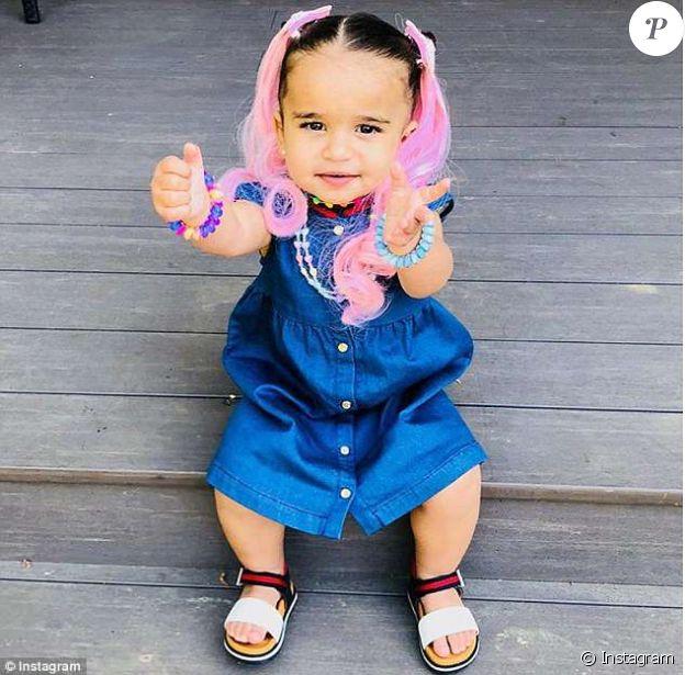 4b2ffcd790617 Blac Chyna fait porter des extensions colorées à sa fille Dream. Photo  postée sur Twitter