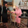 Michelle Obama et Barack Obama rencontrent la Reine d'Angleterre. 01/04/09