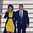 Michelle et Barack Obama arrivent à Londres. 31/03/09