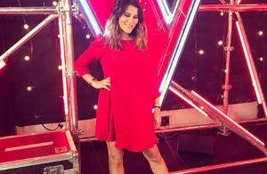 Karine Ferri enceinte dans The Voice : Sa jolie robe rouge fait sensation !