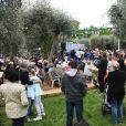 Exclusif - Ambiance - Christian Estrosi (le maire de Nice) et sa femme Laura Tenoudji ont fêté en famille le 1er mai dans les jardins de Cimiez pour la Fête des Mai à Nice, le 1er mai 2018. © Bruno Bebert/Bestimage