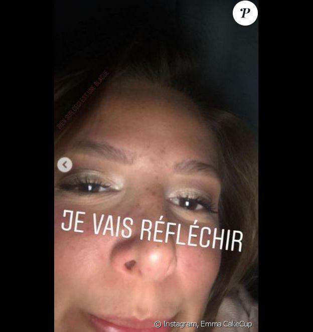 Emma CakeCup en story Insta, a réagi à la proposition de Jacquie et Michel.