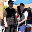 Jeff Leatham et son mari Colton Haynes participent au tournois du Desert Smash celebrity 2018 à La Quinta en Californie, le 6 mars 2018