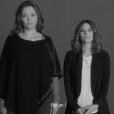 Sandrine Quétier et Mélanie Bernier - Les stars se mobilisent pour le  1er spot de campagne IMAGYN (Initiative des MAlades atteintes de cancers GYNécologiques). Mai 2018.