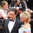 Sylvie Tellier (enceinte) et son mari Laurent - Montée des marches du film «Plaire, aimer et courir vite» lors du 71ème Festival International du Film de Cannes. Le 10 mai 2018 © Borde-Jacovides-Moreau/Bestimage