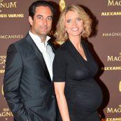 Sylvie Tellier très enceinte : Ventre rond, elle irradie à Cannes avec son mari