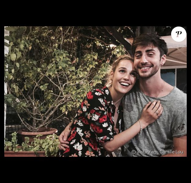Camille Lou et son amoureux Gabriele, le 30 juillet 2017 en Italie.