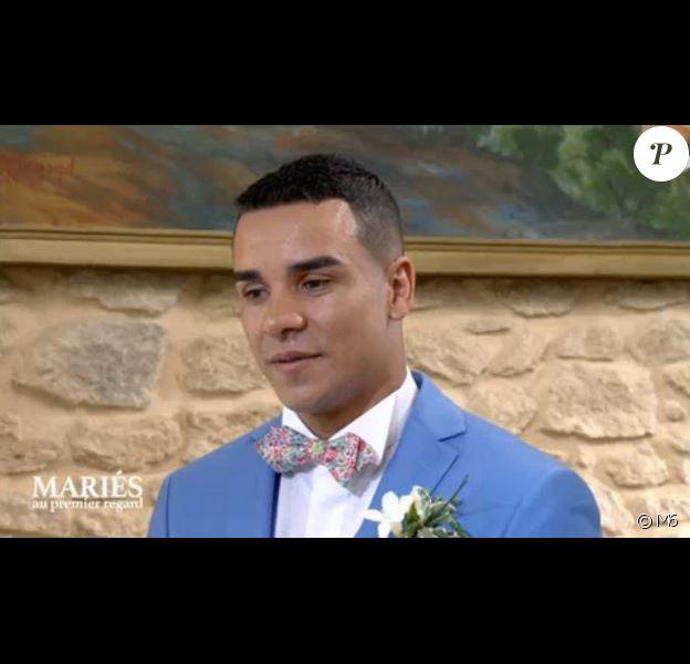 """Vicky et Laurent se sont unis dans """"Mariés au premier regard"""" (M6), lors de l'épisode diffusé lundi 4 décembre 2017."""