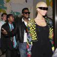 Amber Rose, la chérie de Kanye West... Avec ses lunettes, elle est fin prête pour travailler dans la sidérurgie ! Le 24 février 2009