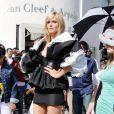 Heidi Klum lors d'un shooting à Beverly Hills, le 1er avril 2009.