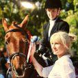 L'ex-femme de Ronan Keating avec sa fille Ali, blessée après une chute de cheval le 8 mai 2018.