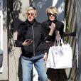 Ellen DeGeneres et sa femme Portia de Rossi à la sortie d'un salon de coiffure à West Hollywood, le 24 février 2017.