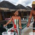 Noré et Kamila aux Maldives, Instagram, mai 2018
