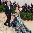 George Clooney et sa femme Amal Clooney (robe Richard Quinn) arrivent au Met Gala à New York, le 7 mai 2018 © Christopher Smith/AdMedia via Zuma/Bestimage