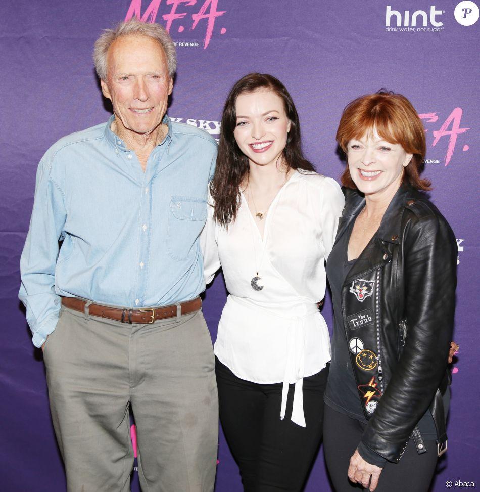 Clint Eastwood, Francesca Eastwood et Frances Fisher à Los Angeles, le 2 octobre 2017.
