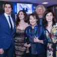 """Rosaria Russo, Antonio Catania, Claudia Cardinale, Pietro Masotti à la première de """"Rudy Valentino"""" à Rome, le 23 mai 2018."""
