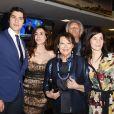 """Pietro Masotti, Roaria Russo, Claudia Cardinale, Nico Cirasola, Rosa Palasciano à la première de """"Rudy Valentino"""" à Rome, le 23 mai 2018."""