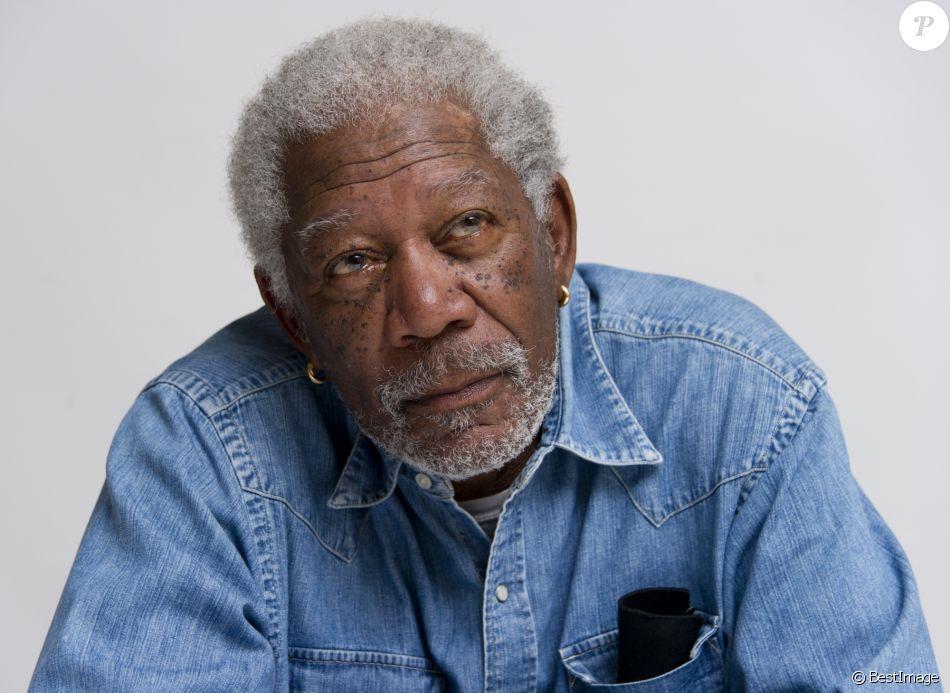 "Morgan Freeman - Conférence de presse du film ""Transcendence"" à Beverly Hills le 6 avril 2014."