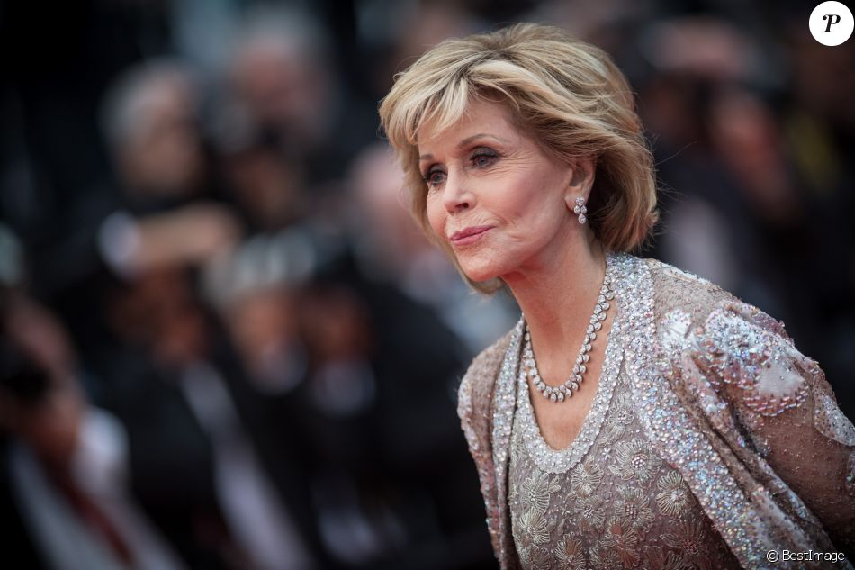 """Jane Fonda - Montée des marches du film """" Blackkklansman """" lors du 71ème Festival International du Film de Cannes. Le 14 mai 2018."""