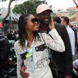 Dwyane Wade et sa femme Gabrielle Union au 76ème Grand Prix de Formule 1 de Monaco, le 27 mai 2018. © Olivier Huitel/Pool Monaco/Bestimage