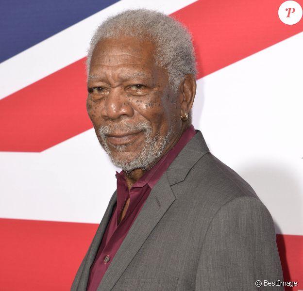 "Morgan Freeman lors de la première du film ""London Has Fallen"" à Hollywood, le 1 mars 2016."