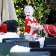 Boris et Lily Becker avec leur fils Amadeus à Miami le 7 mars 2011.