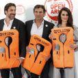 "Javier Bardem, Oscar Camps et Penélope Cruz - Soirée caritative ""Proactiva Open Arms"" dans les jardins Cecilio Rodriguez à Madrid, Espagne, le 31 mai 2018."
