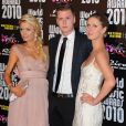Paris Hilton, Barron Hilton et Nicky Hilton au photocall des World Music Awards le 18 mai 2010 à Monaco.