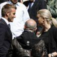 David Beckham à Madrid, c'est l'éclate, surtout avec les jolies blondes...
