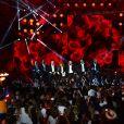 """Exclusif - Mylène Farmer - Enregistrement de l'émission """"La chanson de l'année"""" dans les arènes de Nîmes, diffusée en direct sur TF1 le 8 juin © Bruno Bebert / Bestimage"""